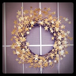 Other - Gold Glitter Star Wreath